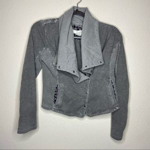 ANTHRO SATURDAY SUNDAY Gray Button Jacket XXSP